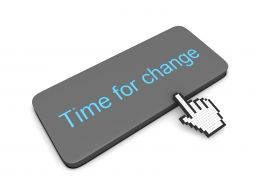 0914 Computer Cursor At Time For Change Stock Photo