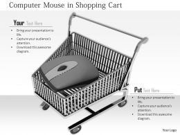 0914 Computer Mouse In Shopping Cart Ppt Slide Image Graphics For Powerpoint