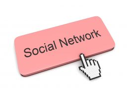 0914 Computer Mouse Pointer On Social Network Stock Photo