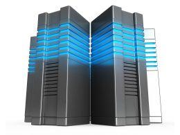 0914 Computer Servers Business Network Design Stock Photo