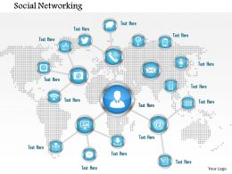 0914 Concept Of Social Networking With Connections Over A World Map Ppt Slide