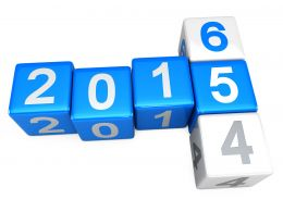 0914 Concept Of Turning Years From 2014 To 2015 Stock Photo
