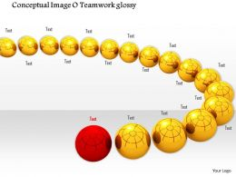 0914 Conceptual Image Of Glossy Balls With One Red Ball Image Graphics For PowerPoint
