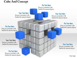 0914 Cubes And Business Concept Ppt Slide Image Graphics For Powerpoint