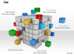 0914 Cubes Block With Different Colors Graphic Image Graphics For PowerPoint
