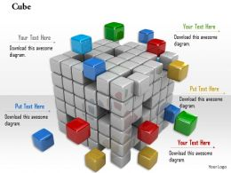 0914 Cubes Block With Different Colors Image Graphics For PowerPoint