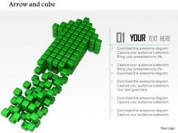 0914 Cubes Forming Arrow Growth Strategy Ppt Slide Image Graphics For Powerpoint