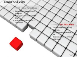 0914 Cubes With Individual Red Cube For Leadership Image Graphics For PowerPoint