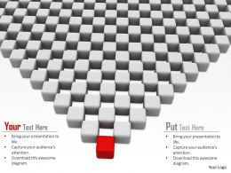 0914 Cubes With Individual Red Cube Leadership Concept Ppt Slide Image Graphics For Powerpoint