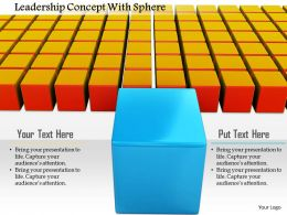 0914 Cubes With One Different Cube For Leadership Concept Image Graphics For PowerPoint