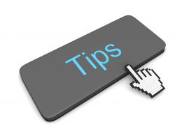 0914 Cursor Pointing At Key Of Tips Stock Photo