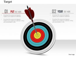 0914 Dartboard Hit At Target Dart Pin Success Ppt Slide Image Graphics For Powerpoint