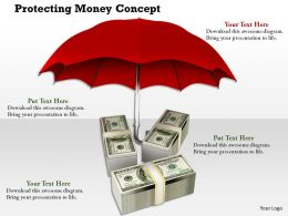 0914 Dollar Currency Bundle With Umbrella Image Graphics For PowerPoint