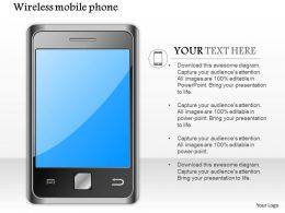 0914 Editable Icon Image Of Wireless Mobile Phone Android Iphone Ppt Slide