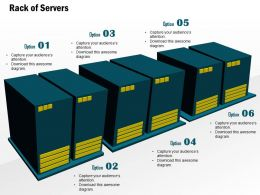 0914 Editable Rack Of Servers In A Cluster For Data Warehousing In A Datacenter Ppt Slide