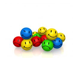 0914 Emotion Colorful Smileys Graphic Image Stock Photo