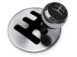 0914 Five Speed Gear Stick Of Vehicle Stock Photo