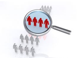 0914 Focus Group Magnifying Glass Image Graphic Stock Photo