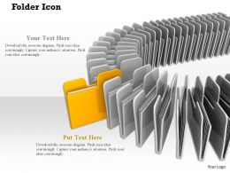 0914 Folder Icons Individual Coming Out Ppt Slide Image Graphics For Powerpoint