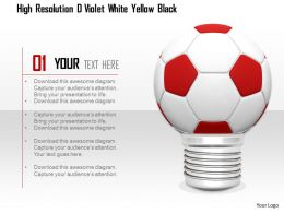 0914 Football Bulb On White Background Image Graphics For Powerpoint