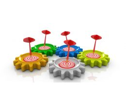 0914 Gears Target Person Stock Photo