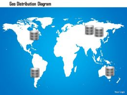 0914 Geo Distribution Diagram Storage Networking With Databases Geographically Ppt Slide