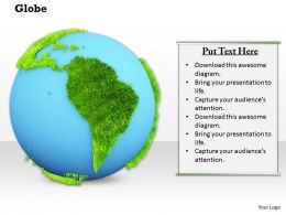 0914 Globe Grass Map Growth Ppt Slide Image Graphics For Powerpoint