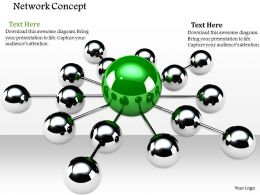 0914 Glossy Balls Network Leader Concept Image Graphics For Powerpoint