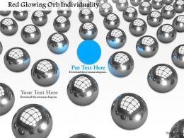 0914 Glossy Balls With One Blue Ball Image Graphics For Powerpoint