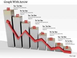 0914 Graph With Arrow Numbers Image Graphics For Powerpoint