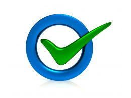 0914 Green Check Mark For Acceptance Stock Photo