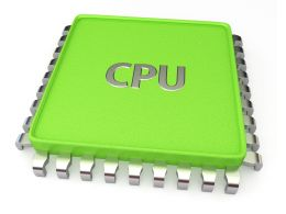 0914 Green Computer Cpu Technology Processor Chip Stock Photo