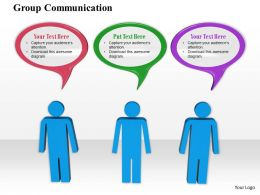 0914 Group Communication 3d Men Ppt Slide Image Graphics For Powerpoint