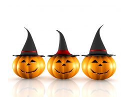 0914 Halloween Pumpkin On White Background Image Graphic Stock Photo
