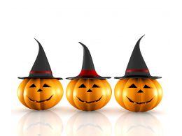 0914 Halloween Pumpkin On White Background Image Graphic Stock Photo