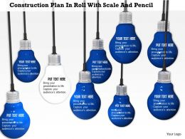 0914 Hanging Bulbs With Individual White Bulb Image Graphics For Powerpoint