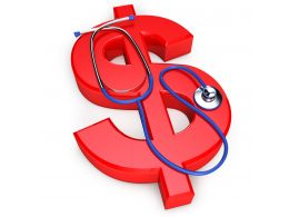 0914 Health Of The Dollar Currency With Stethoscope 06 Stock Photo