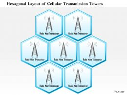 0914 Hexagonal Layout Of Cellular Transmission Towers With Radio Mast Receiver Ppt Slide