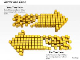 0914 Horizontal Blocks Arrows Both Ways Ppt Slide Image Graphics For Powerpoint