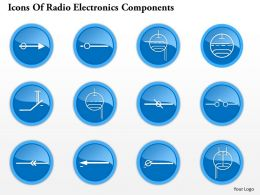 0914 Icons Of Radio Electronics Components 1 Ppt Slide