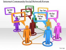 0914 Internet Community Social Network Forum Ppt Slide Image Graphics For Powerpoint