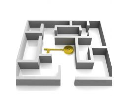 0914 Key In The Labyrinth Security Solution Image Graphic Stock Photo