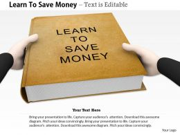 0914 Learn To Save Money Book Image Graphics For Powerpoint