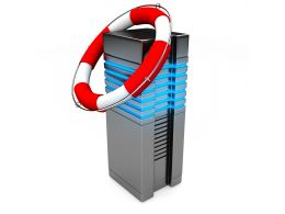 0914 Life Saver On Computer Server For Data Backup Stock Photo