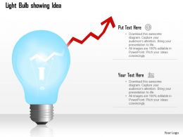 0914 Light Bulb Showing Idea With Arrow Going Upwards Growth Concept Ppt Slide