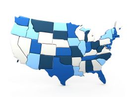 0914 Map Of United States Of America Stock Photo