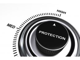 0914 Meter Displaying High Level Of Protection Stock Photo