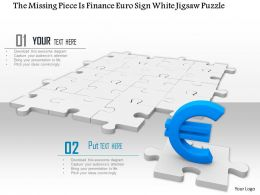 0914 Missing Puzzle Piece Having Finance Euro Sign White Jigsaw Puzzle Ppt Slide Image Graphics For Powerpoint