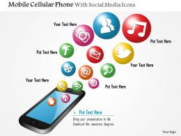 0914_mobile_cellular_phone_with_social_media_icons_bubbling_up_ppt_slide_Slide01