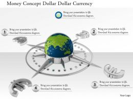 0914 Money Concept Globe Euro Sign Compass Image Graphics For Powerpoint